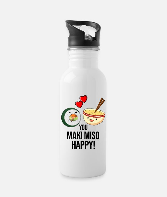 Soup Mugs & Drinkware - You make me so happy sushi soup gift - Water Bottle white