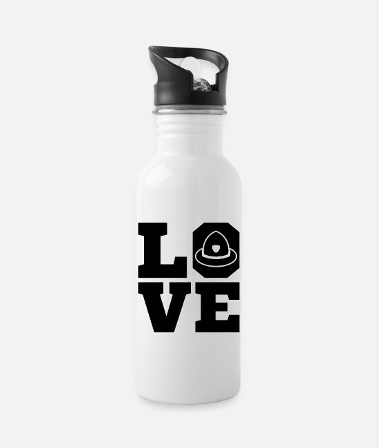 Love Mugs & Drinkware - Volunteer firefighter firefighter - Water Bottle white