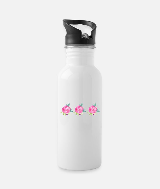 Happiness Mugs & Drinkware - The three roses - Lucky charm - Water Bottle white