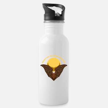 Pollinate Protect The Pollinators Bat With Moon - Water Bottle