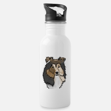 Long-haired Long-haired Herd Dog Longhair Collie Mama | Collie Rough Collies - Water Bottle