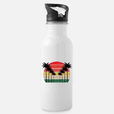 Cute Country T Palm Tree Distressed Michigan - Beach Design T-Shi - Trinkflasche