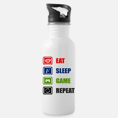 Console Eat Sleep Game Repeat - Water Bottle