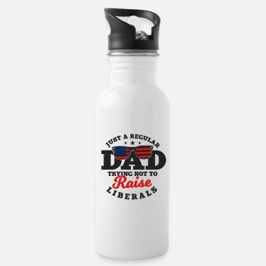 Try Try Try regular dad trying not to raise liberals - Water Bottle