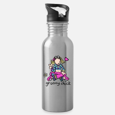 'groovy chick' - Chill - Water Bottle