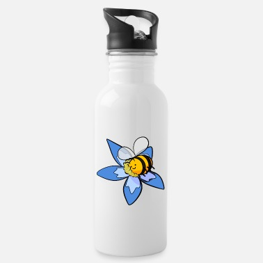 Pollinate Happy bee pollinates flower - Water Bottle
