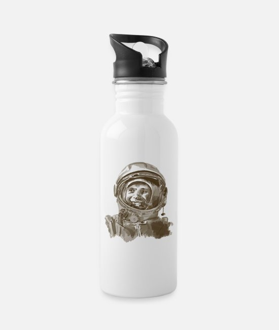 Space Mugs & Drinkware - kosmonaut - Water Bottle white