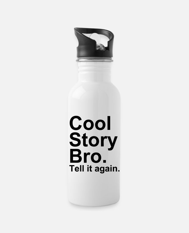 Hipster Mugs & Drinkware - Cool Story Bro - Water Bottle white