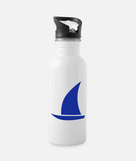 Sailboat Mugs & Drinkware - sailboat - Water Bottle white
