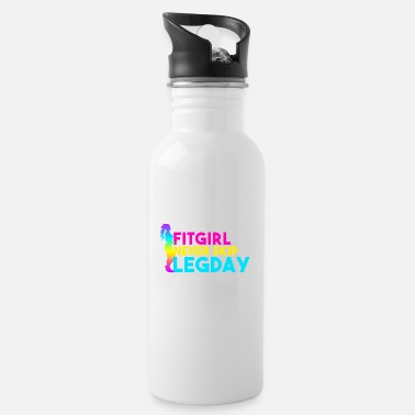 Fitgirl never skip legday fitness motivation - Water Bottle
