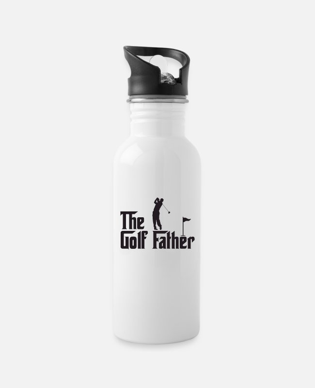 Father And Son Mugs & Drinkware - The Golf Father - Water Bottle white
