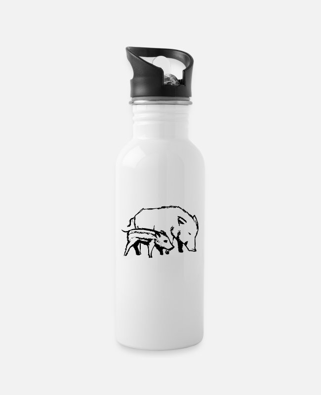 Nature Mugs & Drinkware - pigs - Water Bottle white