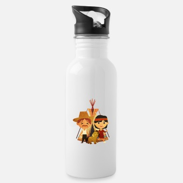 Cowboy and Indian - Water Bottle