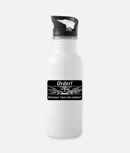 Travel Bug Mugs & Drinkware - Order! Division! Clear the lobbies UK - Water Bottle white