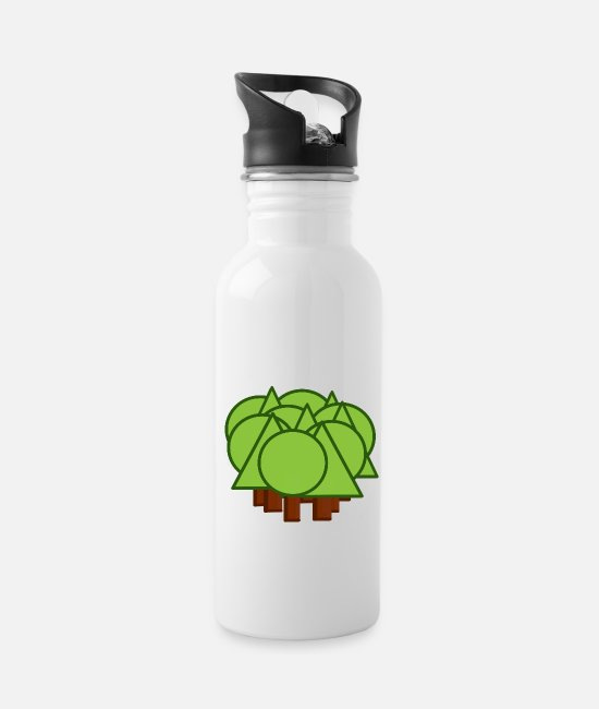 Nature Mugs & Drinkware - Mixed forest - mixed forest - forest - Water Bottle white