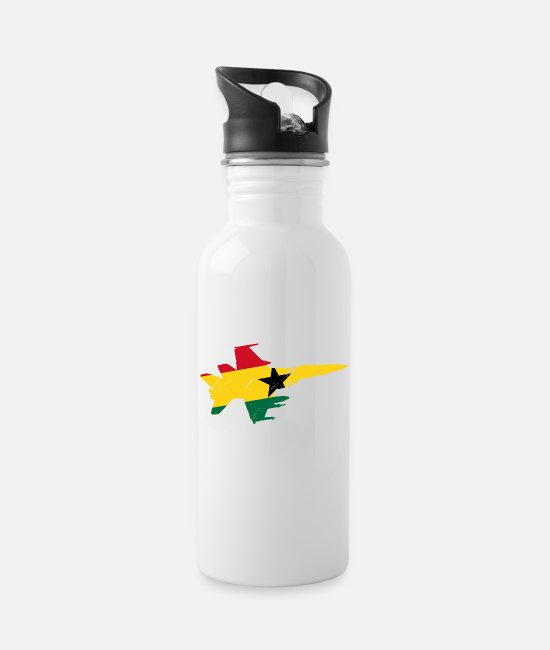 Travel Mugs & Drinkware - Ghana Flag Africa Accra Nkran Gift - Water Bottle white