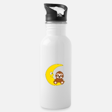 Sassy Sloth - moon - animal - children - cartoon - Water Bottle