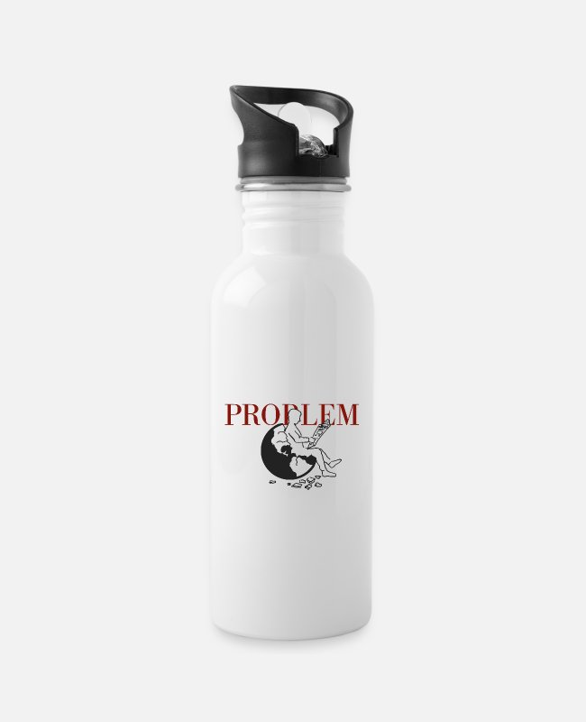Earth Mugs & Drinkware - PROBLEM - Water Bottle white