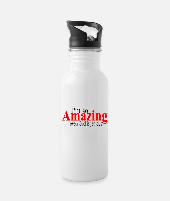 Super Mugs & Drinkware - amazing - Water Bottle white