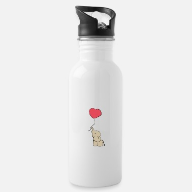 Melt Sweet Elephant with Balloon - Gift Idea - Gift - Water Bottle