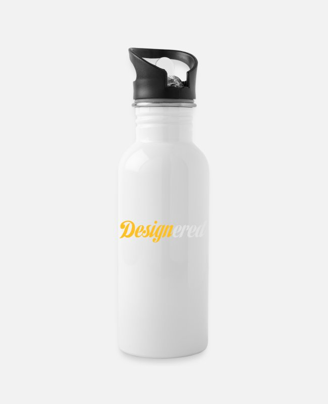 Artist Mugs & Drinkware - Designered - Water Bottle white