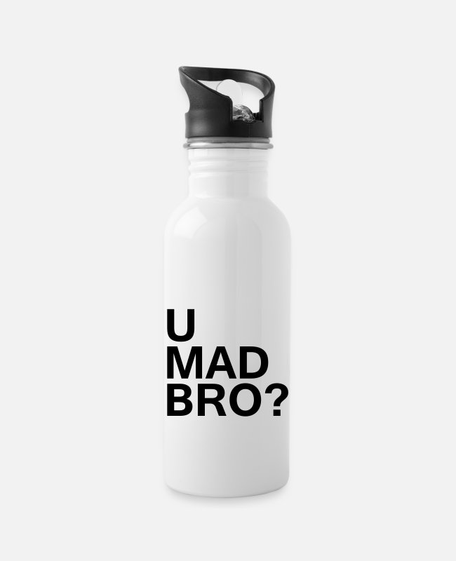 Hipster Mugs & Drinkware - U mad bro? - Water Bottle white