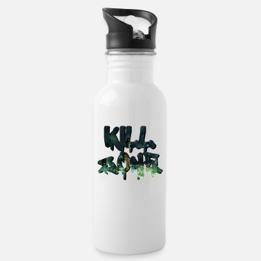 Kill Zone Halloween Kill Splatter Danger Zone saying slogan - Water Bottle