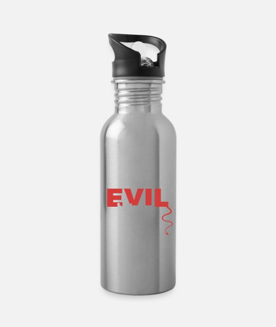 Owner Mugs & Drinkware - evil - Water Bottle silver