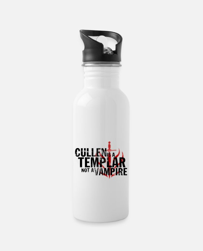 "Game Mugs & Drinkware - ""Cullen is a Templar"" Design - Water Bottle white"