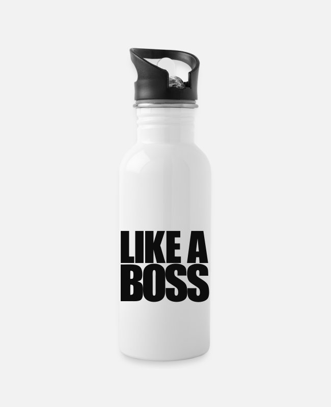 Hipster Mugs & Drinkware - Like a Boss - Water Bottle white