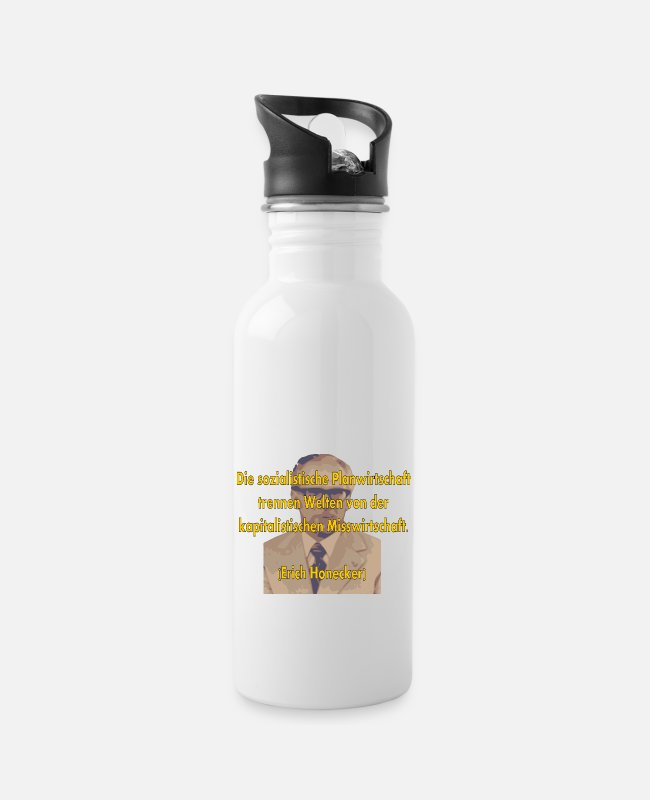 Anti-socialist Mugs & Drinkware - socialist planned economy - Water Bottle white