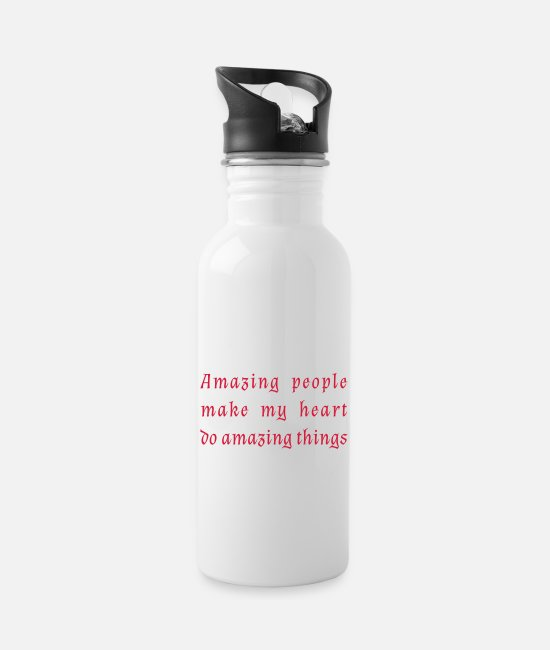 Heart Mugs & Drinkware - amazing people - Water Bottle white