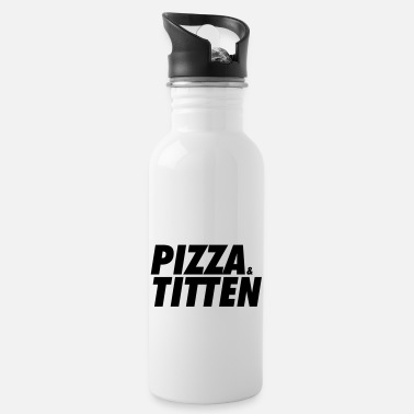 pizza and breasts - Water Bottle
