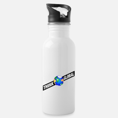 Global think global / global denken / global - Trinkflasche