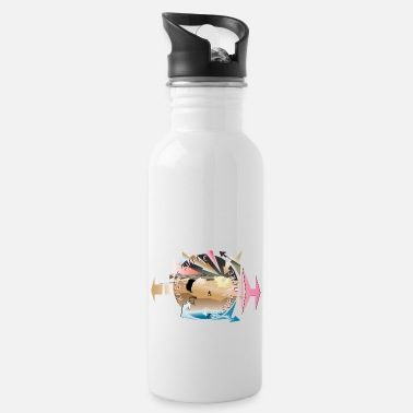 Rideandchill keep it simple surf more - Water Bottle