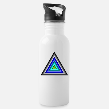 Triangle Triangles in triangle - Water Bottle