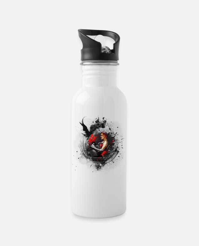Art Mugs & Drinkware - Erotic sexy woman modern art - Water Bottle white