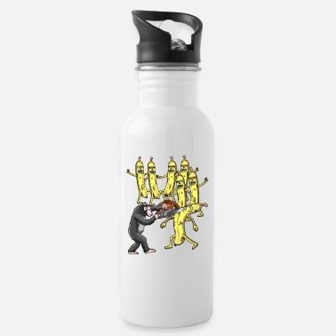 MONKEY AGAINST ZOMBIE BANANA WITH CHAINSAW - Water Bottle