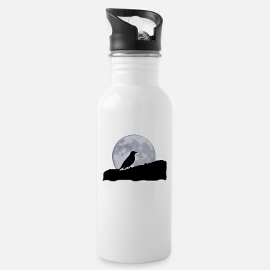 Grim Crow full moon - Water Bottle