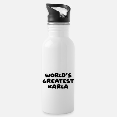 Karla worlds greatest karla name - Water Bottle