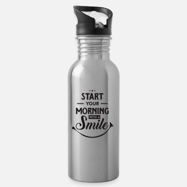 Start Aamu - positiivinen - Start - Start - Happy - Smile - Juomapullo