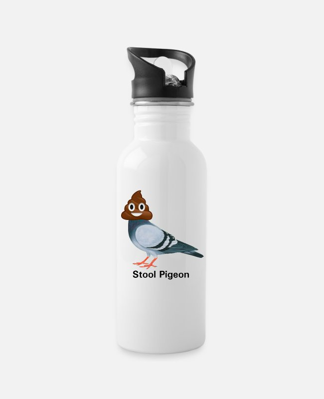 Stool Mugs & Drinkware - Stool Pigeon, ha cha cha cha - Water Bottle white