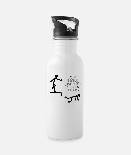 Quote Mugs & Drinkware - stick figure - Water Bottle white