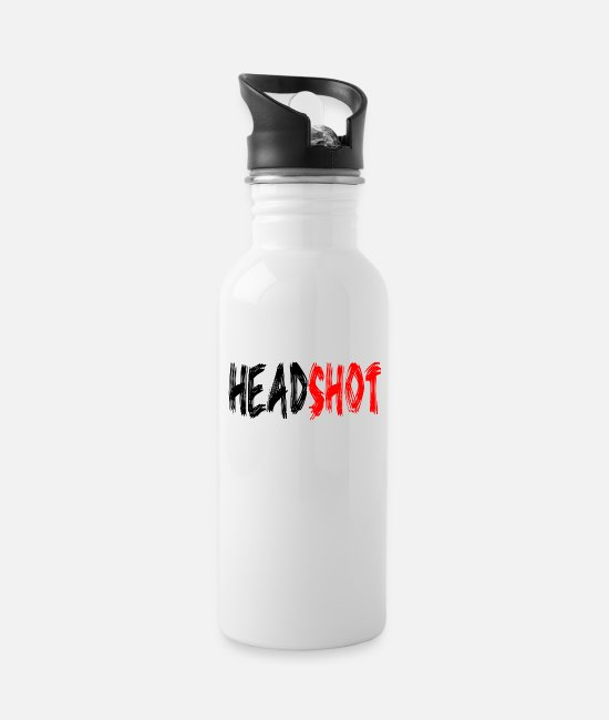 Game Mugs & Drinkware - HEADSHOT - Water Bottle white