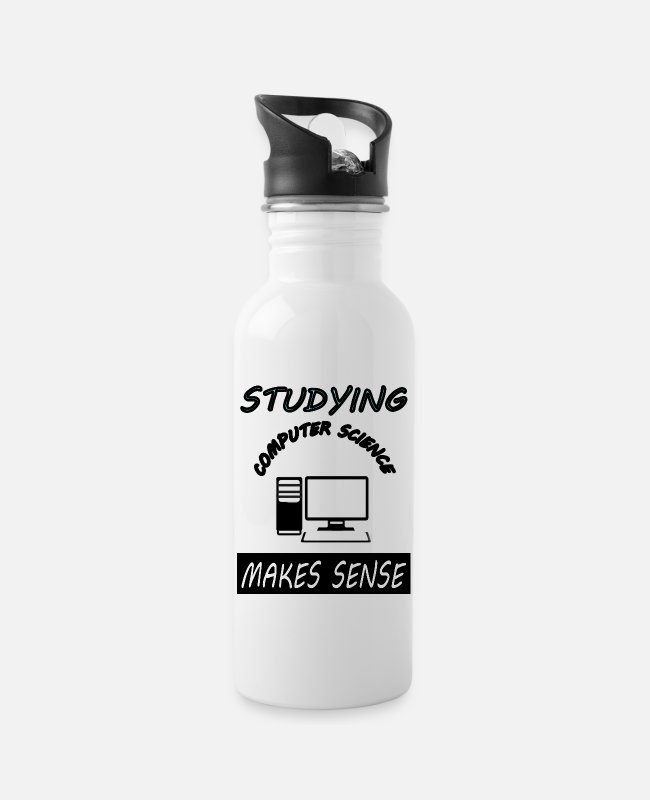 Studies Mugs & Drinkware - Studying Computer Science Studying Computer Science - Water Bottle white