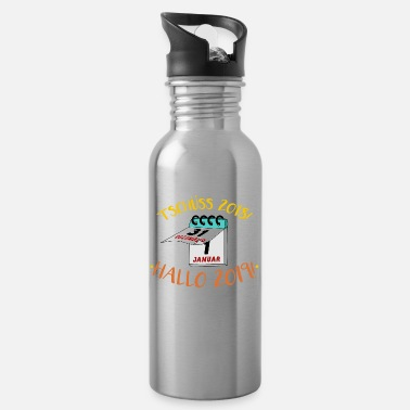 New Year's Day New Year's Eve New Year's Day Funny saying - Water Bottle