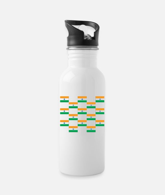 Flag Mugs & Drinkware - India flag flag - Water Bottle white