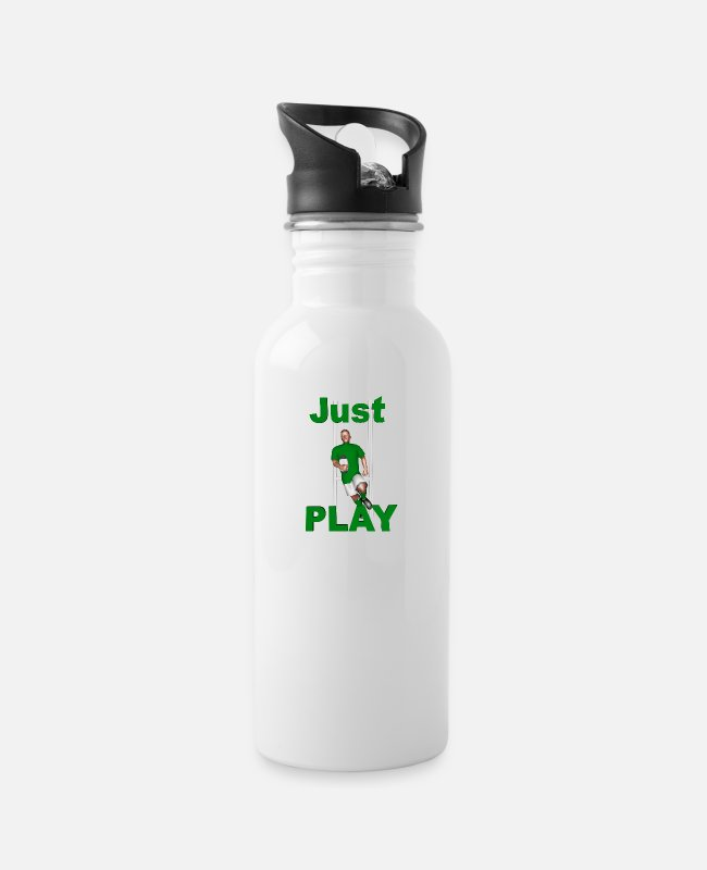 Ireland Rugby Mugs & Drinkware - RUGBY Just Play - Water Bottle white