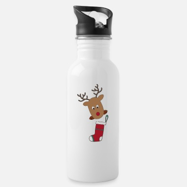 Computer Art Funny gifts for Christmas with elk - Water Bottle