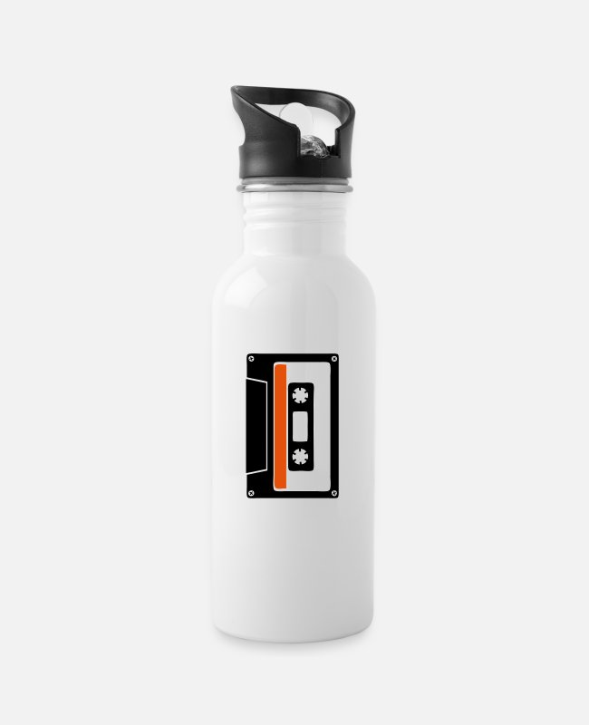 Audiophile Mugs & Drinkware - k7 old audio cassette 1 - Water Bottle white
